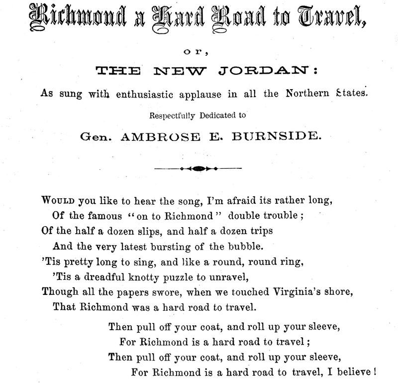 Lyric shenandoah lyrics : Richmond a Hard Road to Travel (1862) – The Hardtacks