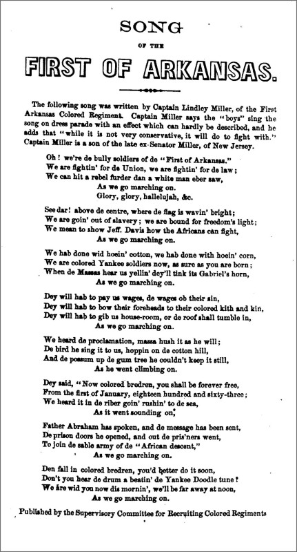 Song Of The 1st Of Arkansas 1864 The Hardtacks