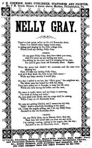 Nelly Gray (Benjamin Hanby, 1856)