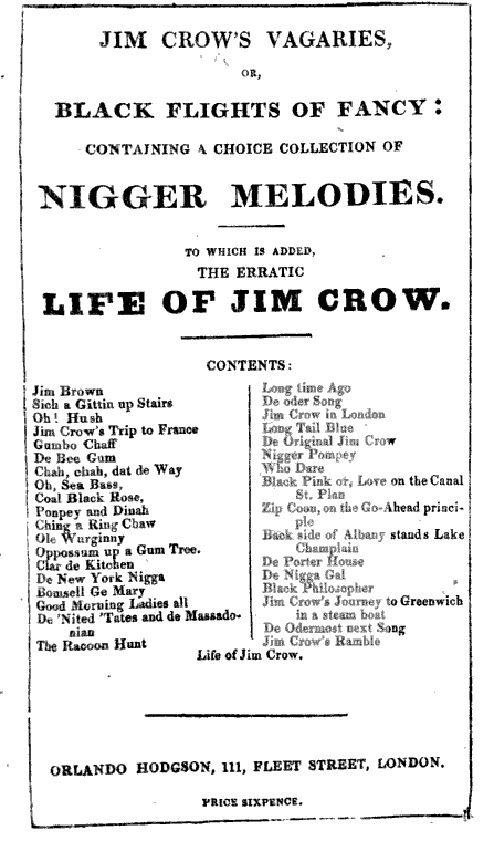 1830s-JimCrow'sVagaries