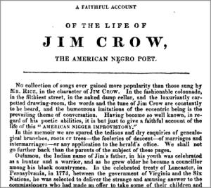 1830s-JimCrow'sVagaries+LifeOfJimCrow